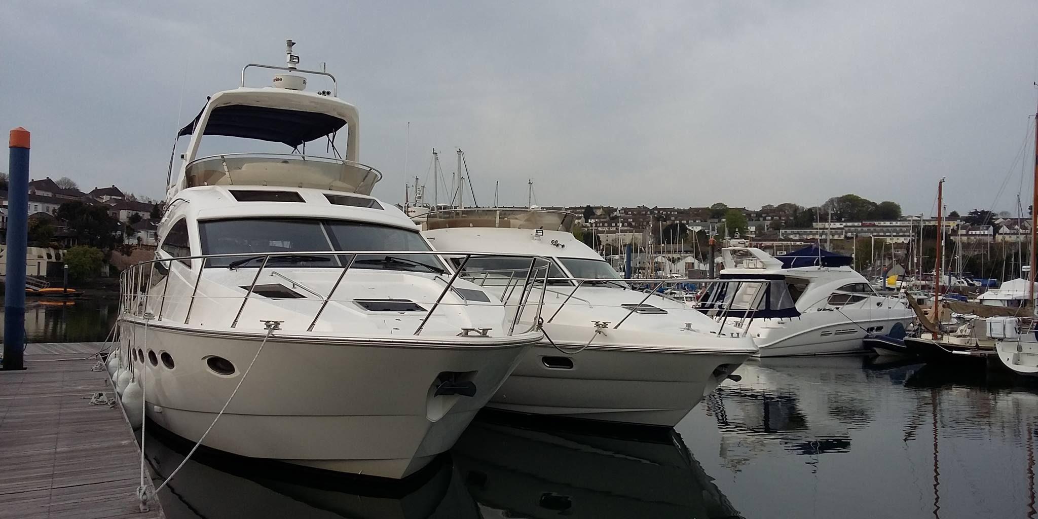 Sealine T50 and 42.5 at Falmouth Marina